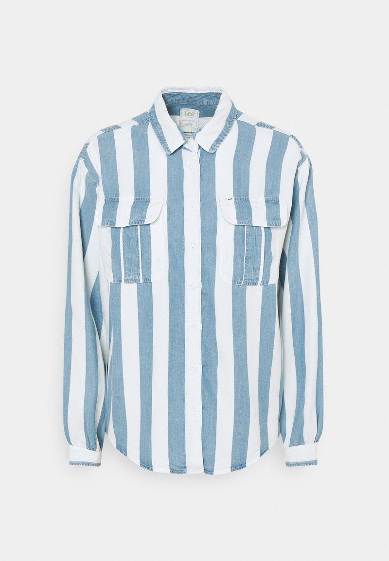 Lee - BOX PLEAT - Button-down blouse - dawn blue