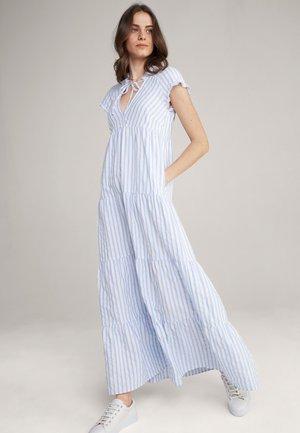 DEBBY - Maxi dress - hellblau-weiß gestreift