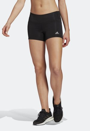OWN THE RUN SHORT TIGHTS - Tights - black/reflective silver