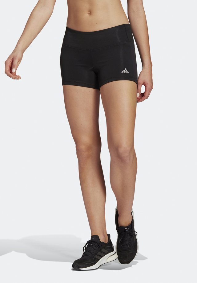 OWN THE RUN SHORT TIGHTS - Leggings - black/reflective silver
