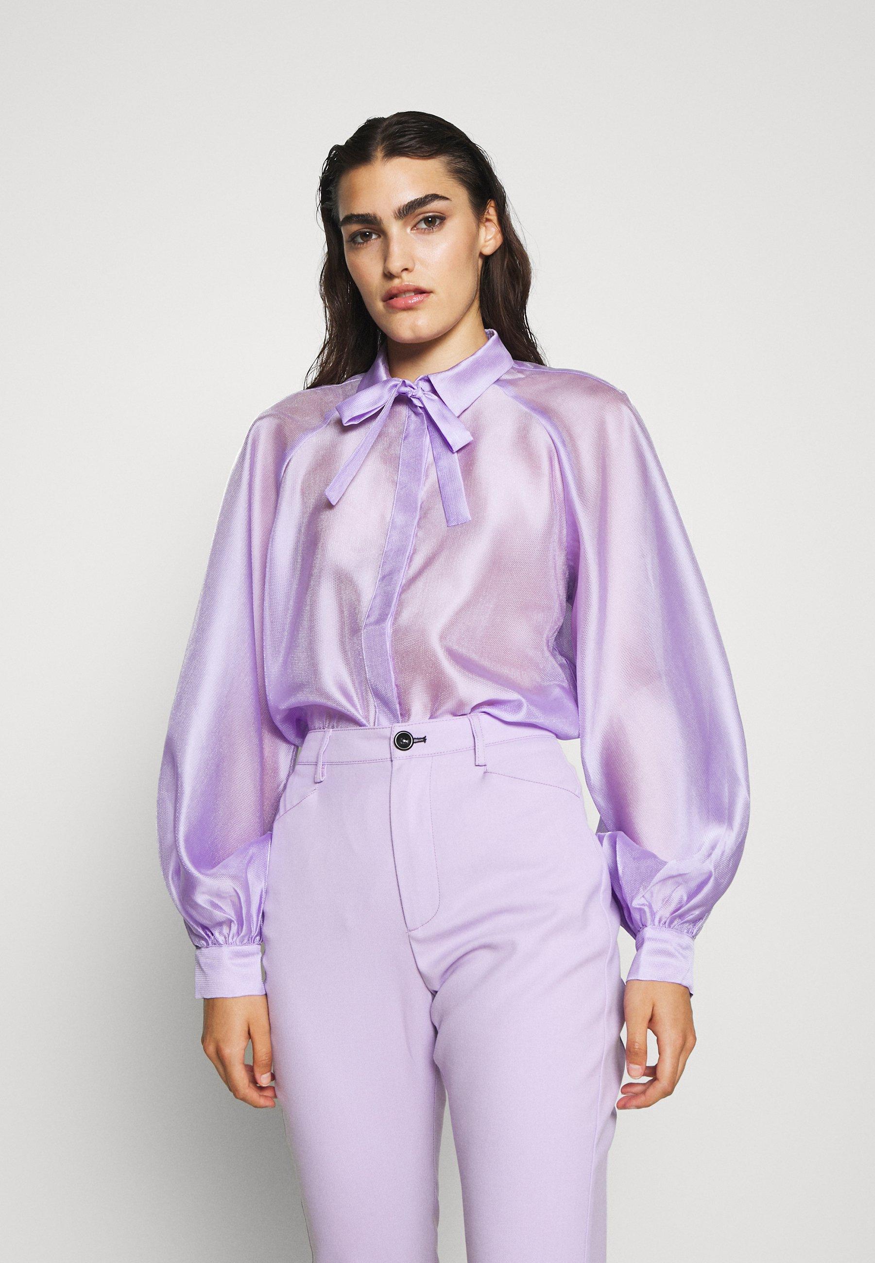DESIGNERS REMIX ENOLA SLEEVE - Skjortebluser - lavender - Damer Bluser & tunikaer sDQ52