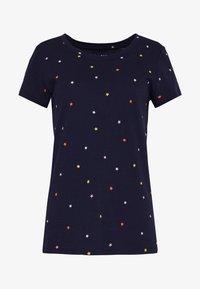 GAP - FAV CREW - T-shirts med print - navy - 3