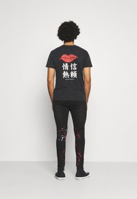 Good For Nothing - DARK RIPPED WITH PAINT - Jeansy Skinny Fit - black - 2