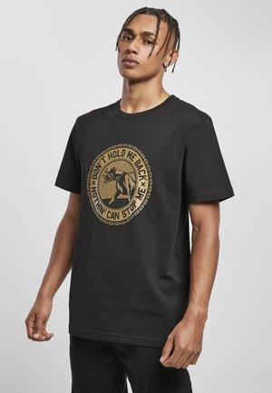 T-shirt print - black/mc
