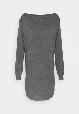 Pletené šaty - dark grey mélange