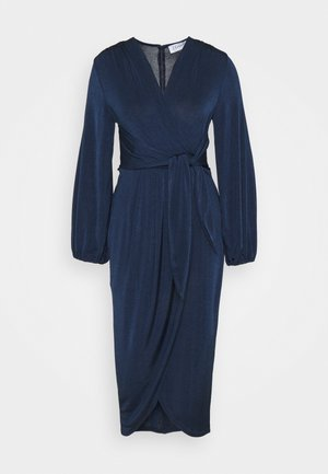 TWIST FRONT LONG SLEEVE DRESS - Vardagsklänning - navy