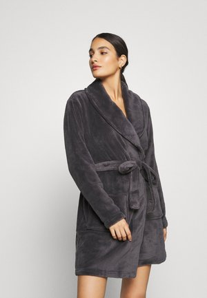 LADIES PLUSH BATHROBE  - Kylpytakki - grey