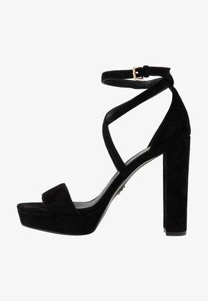 CHARLIZE PLATFORM - Sandály na vysokém podpatku - black