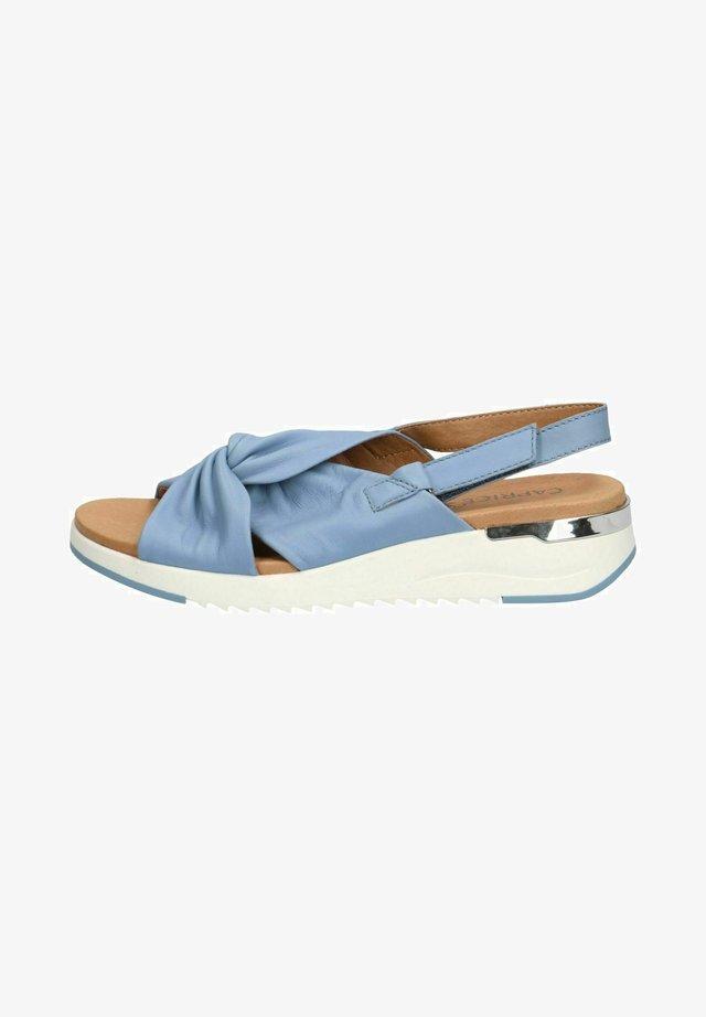 WOMS  - Sandalen met sleehak - blue softnappa