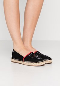 KARL LAGERFELD - KAMINI OUTLINE SLIP ON - Espadrilles - black - 0