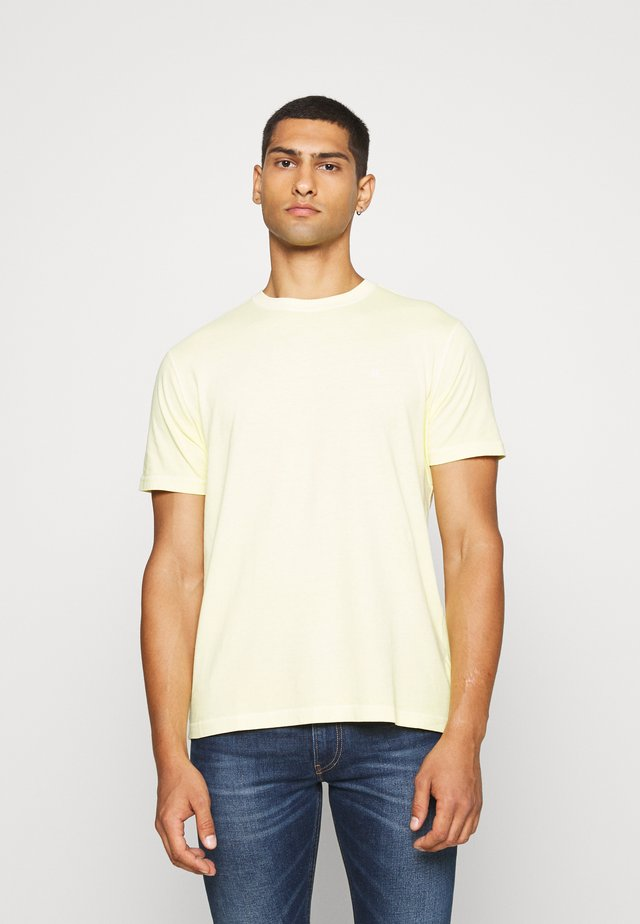 BUTLER TEE EMBROIDERY - Basic T-shirt - natural yellow