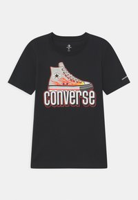 Converse - WARPED CHECKER SNEAKER  - T-shirt imprimé - black - 0