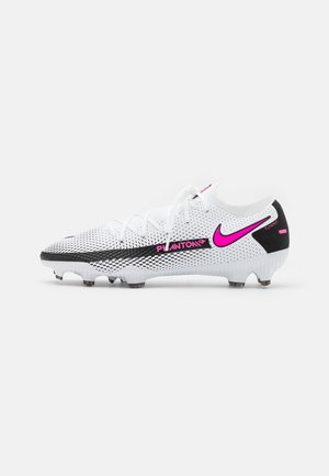 PHANTOM GT PRO FG - Moulded stud football boots - white/pink blast/black