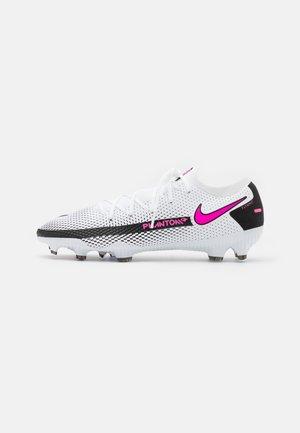 PHANTOM GT PRO FG - Botas de fútbol con tacos - white/pink blast/black
