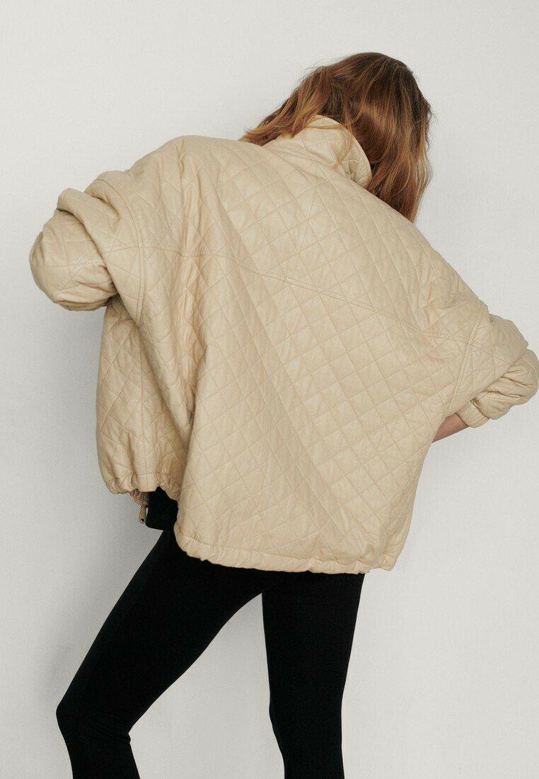 Massimo Dutti - Leather jacket - beige