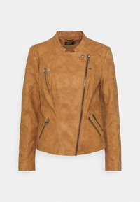 ONLY - ONLAVA BIKER - Faux leather jacket - toasted coconut - 0