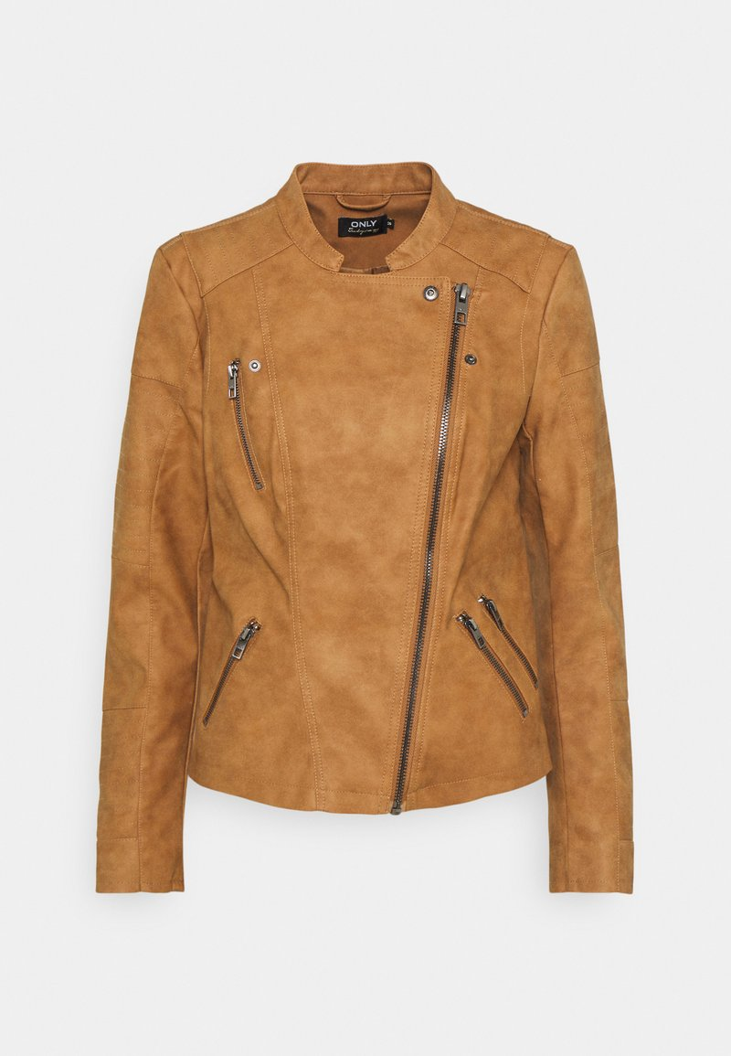 ONLY - ONLAVA BIKER - Faux leather jacket - toasted coconut