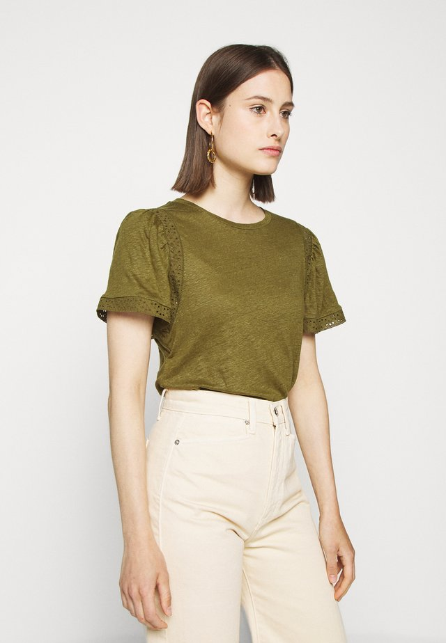 INSERT TEE - Print T-shirt - olive