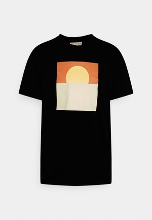 GRAPHIC SUNSET - T-shirt con stampa - blue