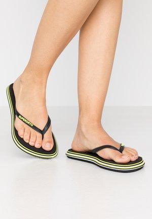 T-bar sandals - neon yellow