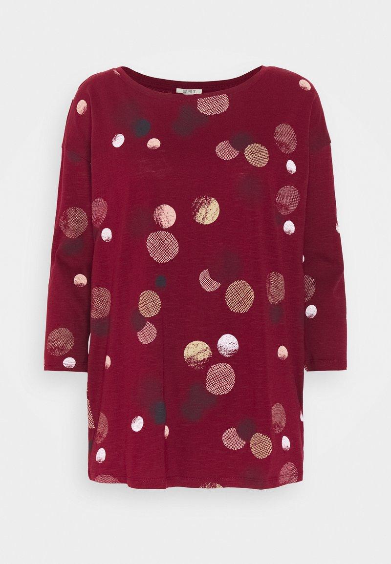 Esprit - CORE - Maglietta a manica lunga - bordeaux red