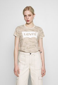 Levi's® - THE PERFECT TEE - T-shirts med print - beige - 0