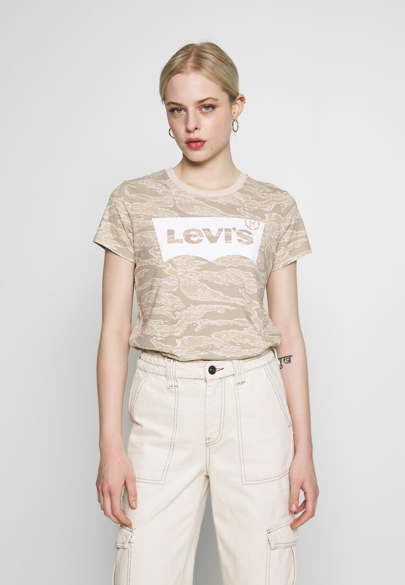 Levi's® - THE PERFECT TEE - T-shirts med print - beige