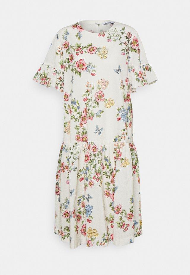 DRESS - Sukienka letnia - stampa fondo bianco