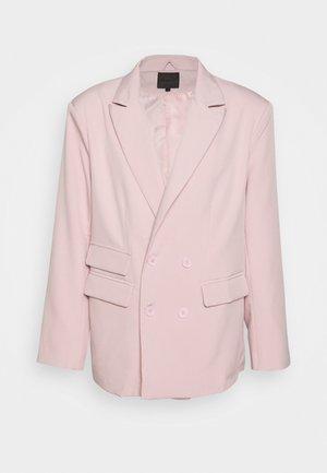 SUNDAZE DOUBLE BREASTED SUIT JACKET - Blazer - pink