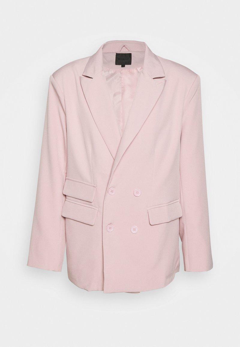 Mennace - SUNDAZE DOUBLE BREASTED SUIT JACKET - Blazer jacket - pink