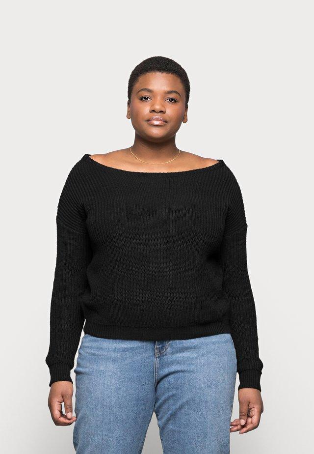 OPHELITA OFF SHOULDER - Sweter - black