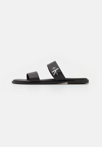 FLAT TWO STRAPS - Mules - black