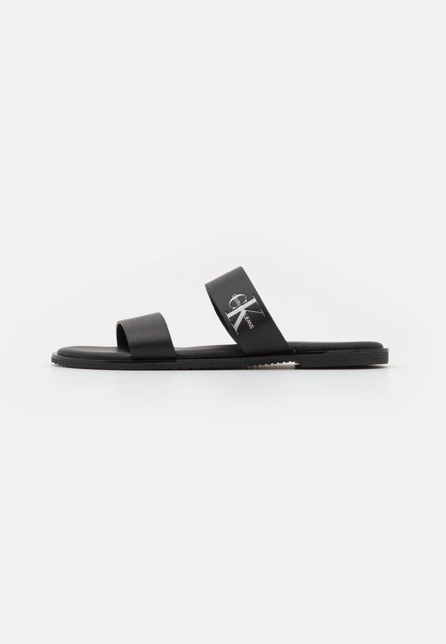 FLAT TWO STRAPS - Pantofle - black