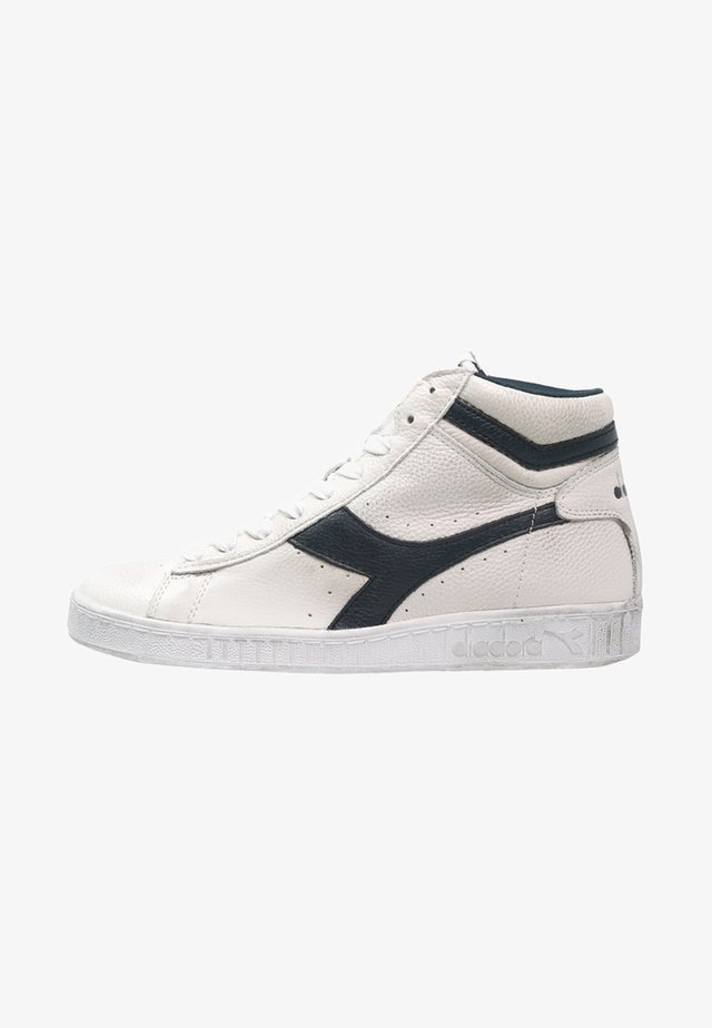 GAME WAXED - High-top trainers - white/blue caspian sea
