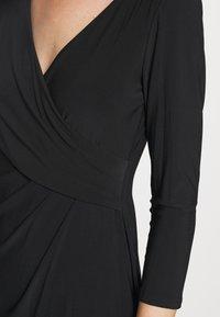 Lauren Ralph Lauren - MID WEIGHT DRESS - Shift dress - black - 5