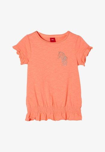 Print T-shirt - light orange