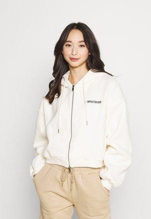 CORBY HOODED ZIP WOMEN - Zip-up sweatshirt - creme
