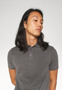 Pier One - MUSCLE FIT - Polo - dark gray - 3