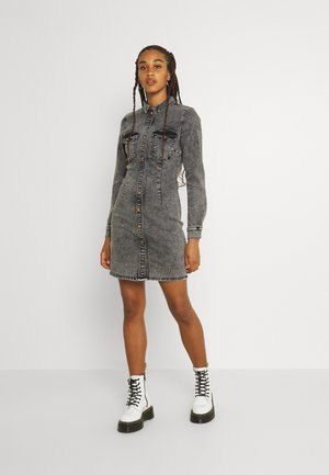 NMJOY DRESS - Spijkerjurk - grey denim