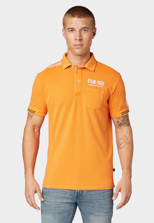 MIT STICKEREI - Polo - clown fish orange
