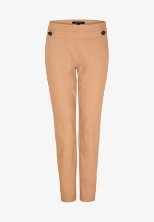MIT GROSSEN ZIERKNÖPFEN - Trousers - camel