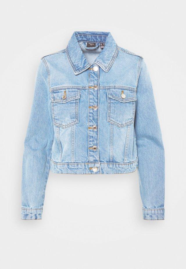 VMMIKKY SHORT JACKET - Giacca di jeans - light blue denim