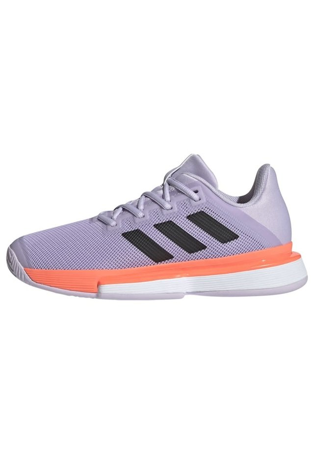Clay court tennis shoes - purple tint