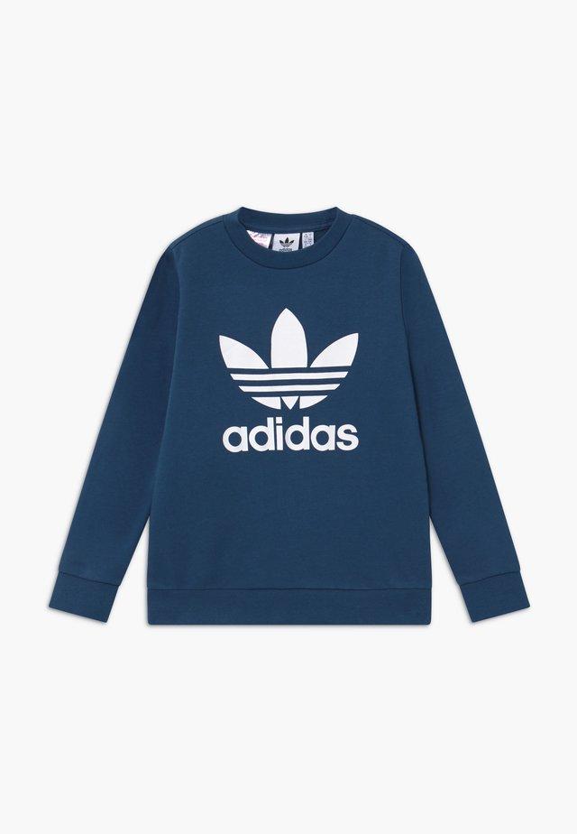 TREFOIL CREW - Sweatshirt - dark blue/white