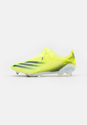 X GHOSTED.1 FG - Fotbollsskor fasta dobbar - solar yellow/core black/royal blue