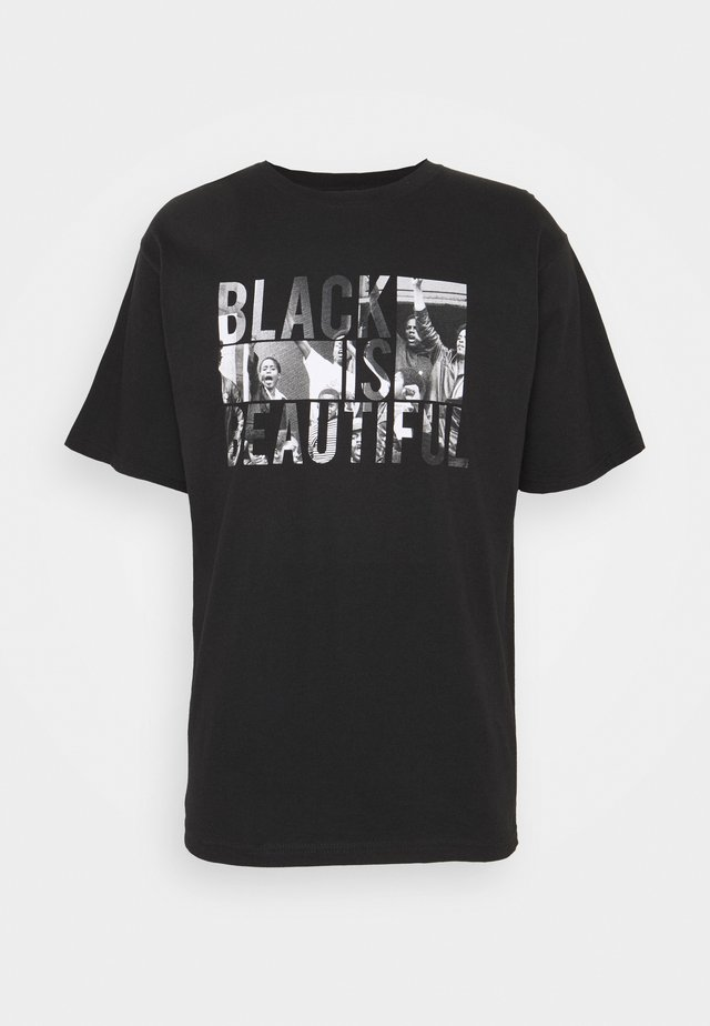 BLACK IS BEAUTIFUL TEE - Print T-shirt - black