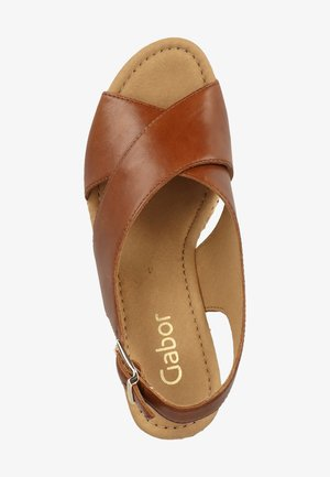 SANDALEN - High heeled sandals - peanut 24