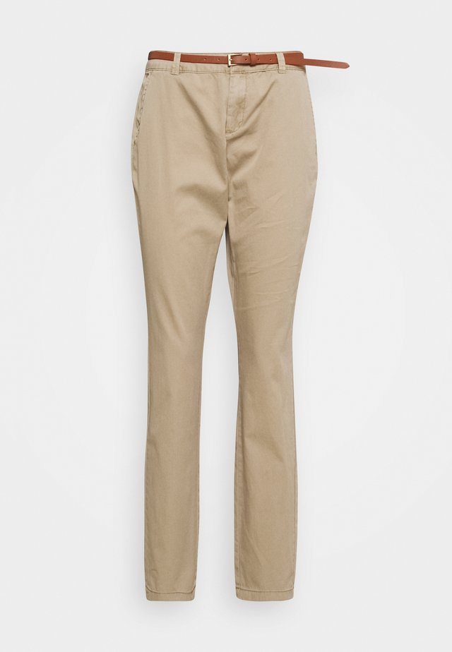 VMFLASH BELT COLOR PANT - Pantaloni - silver mink