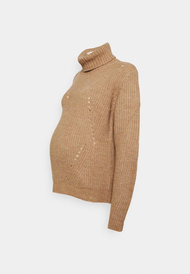 MONTE CRISTALLO - Stickad tröja - camel