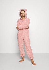 Loungeable - PINK TEDDY SHERPA ONESIE - Jumpsuit - pink - 1